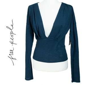 """Free People """"We The Free"""" Ruched Top"""